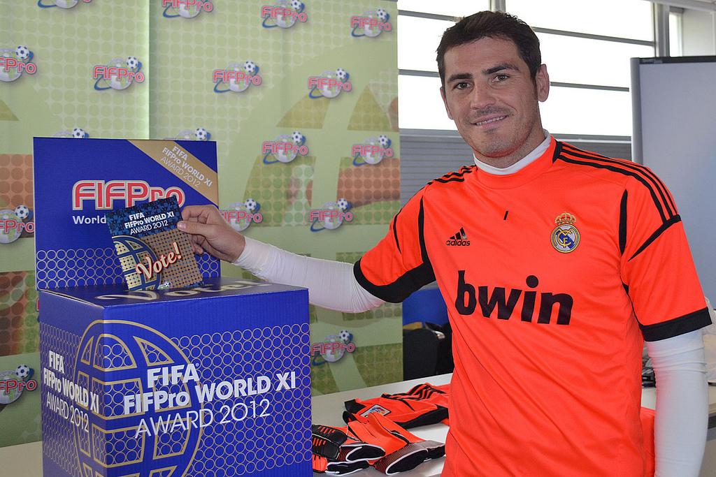 Iker Casillas (Real Madrid) bei der Wahl seiner World XI